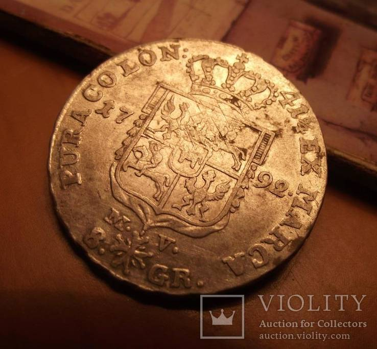 8 грошей срібних - 2 злотих. 1792 р.