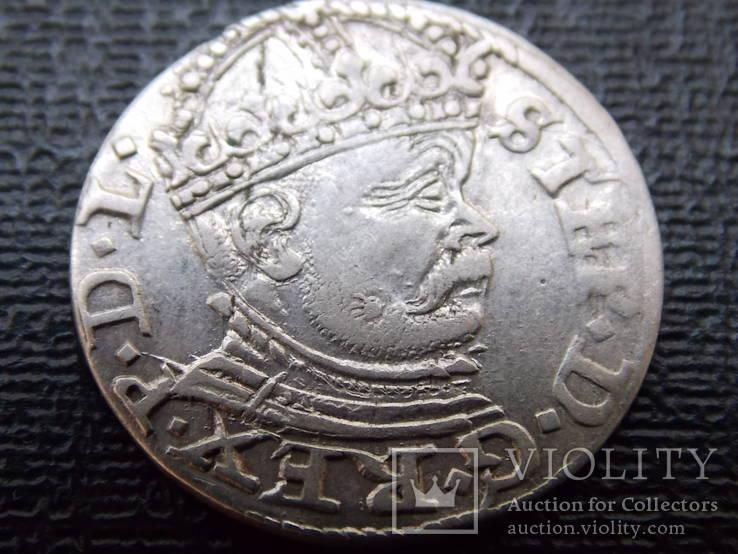 Трояк 1586 Стефан Баторий