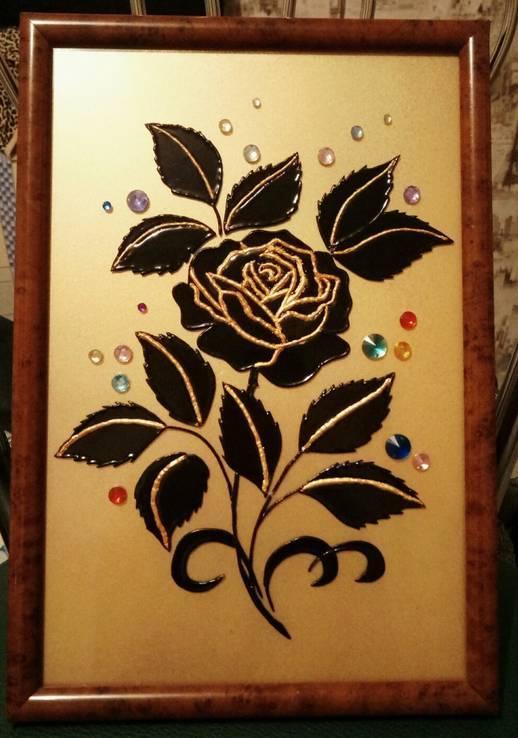 """Картина """"Черная роза"""""""