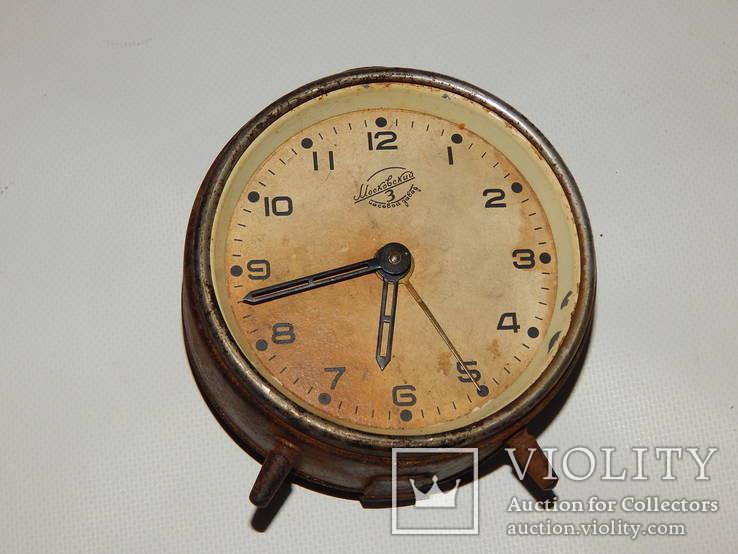Часы будильник 3-й московский часовой завод 6836