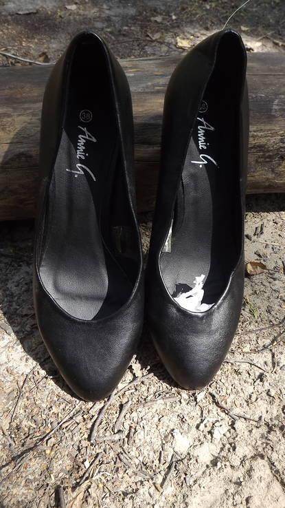 Классические туфли на маленьком каблучке Anniе 38 размер, фото №15