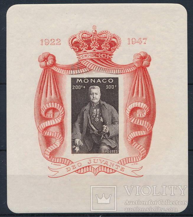 Монако 1947 Князь Луи II блок MNH **