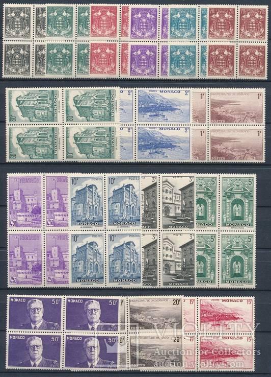 Монако 1943 Yv&T№249-64 полная серия в квартах MNH **