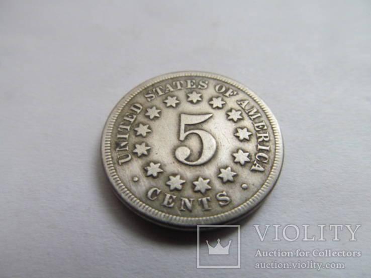 США  5  центов  1868  год