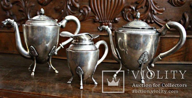 Серебряный чайно кофейный сервиз.