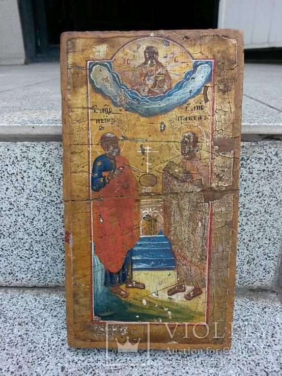 Икона св.Петр и св.Павел 19 х 10.5 х 2.5см