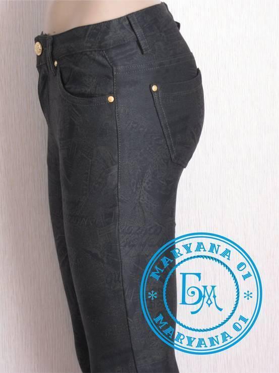 Стрейчевые штаны джегинсы 26 размер, фото №7