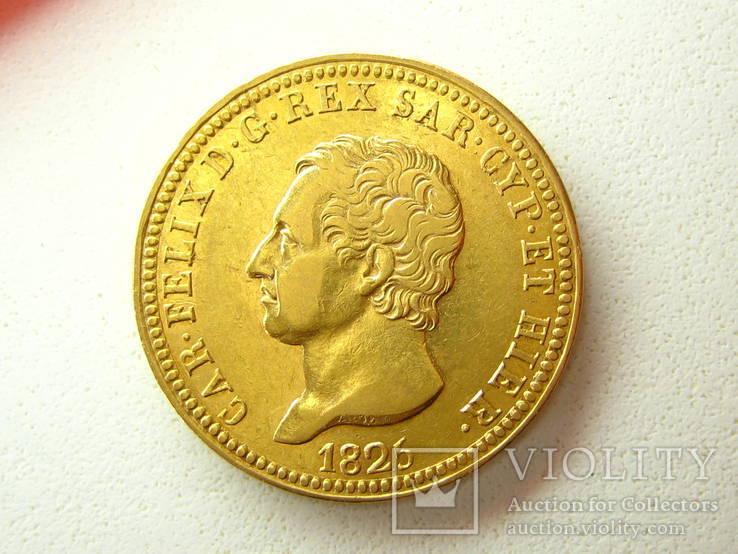 Сардиния 40 лир 1825 г.