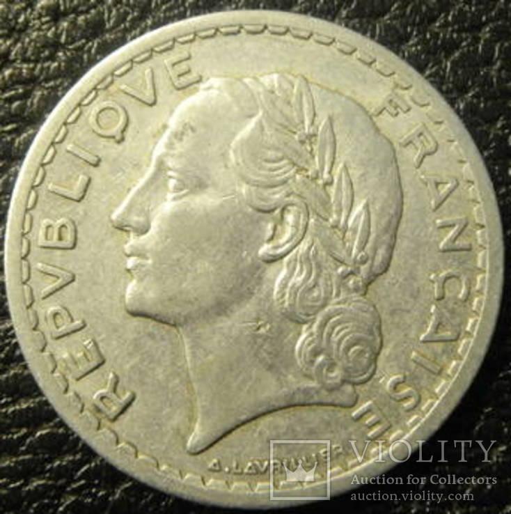 5 франків Франція 1946, фото №3