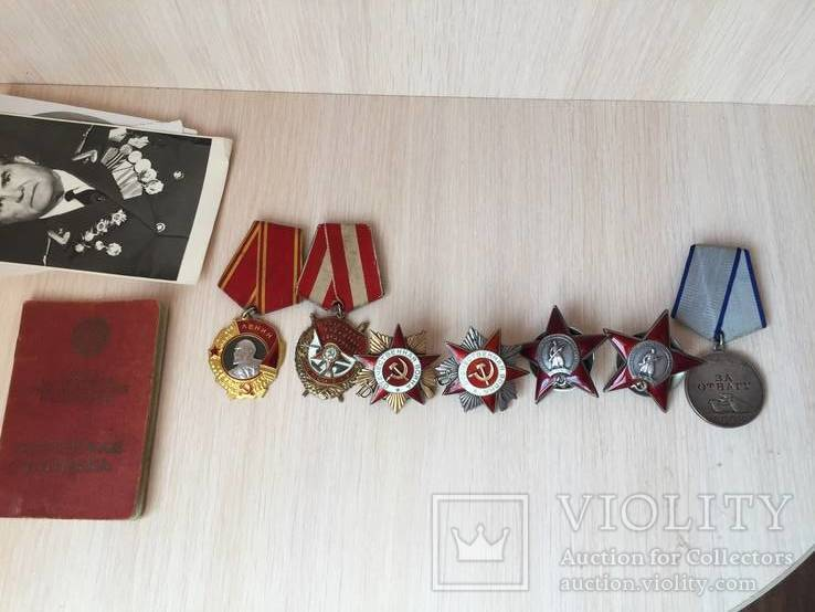 Комплект наград орден ленина бкз ов 1 и 2 ст боевой и другие