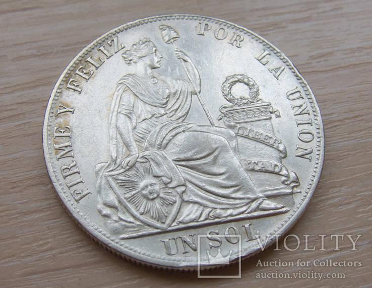 Перу 1 соль 1888
