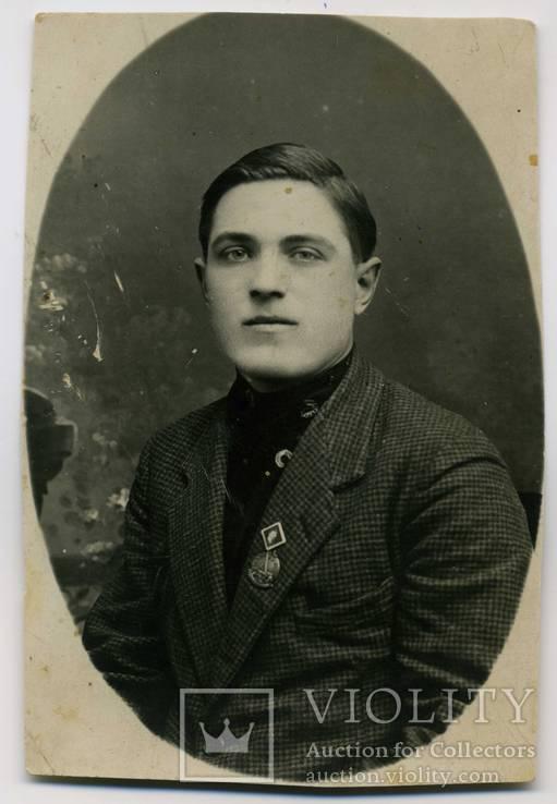 Кадиевка 1928 г. Фото со знаком Х лет октябрьской революции и неизвестный знак, фото №2