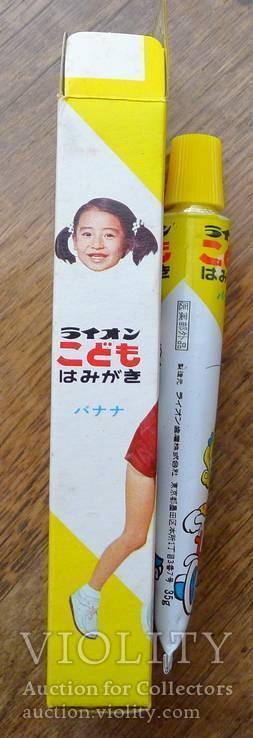 Японская винтажная зубная паста 70-х гг в родной коробке. Зубная паста полный тюбик., фото №4