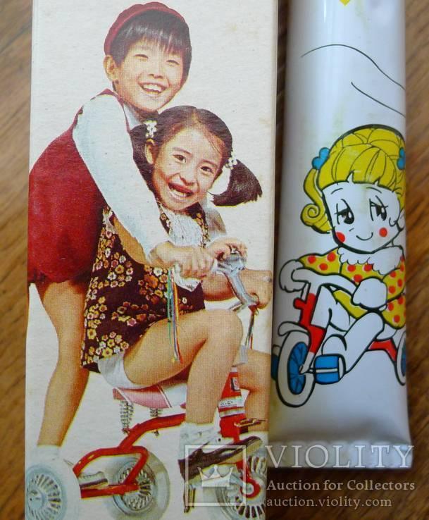 Японская винтажная зубная паста 70-х гг в родной коробке. Зубная паста полный тюбик., фото №6