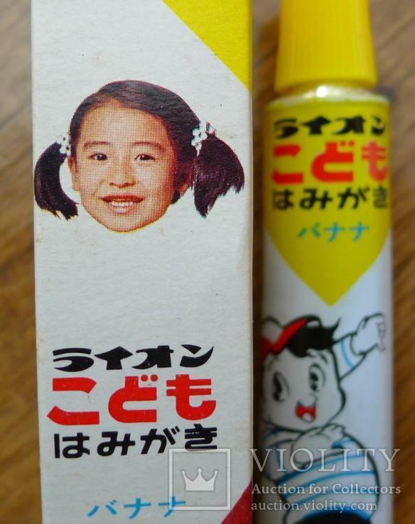 Японская винтажная зубная паста 70-х гг в родной коробке. Зубная паста полный тюбик., фото №7
