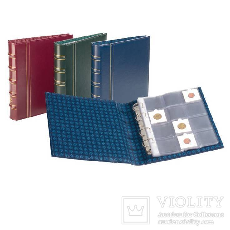 Альбом для монет OPTIMA в холдерах на 120 монет С листами под ходдеры