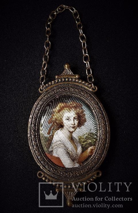 Шелкография портрет Дамы. Италия.