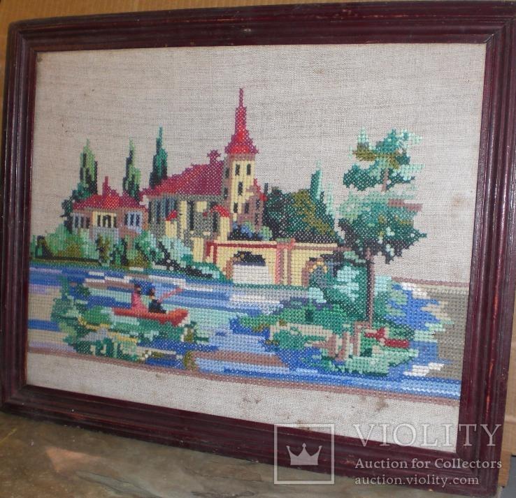 Картина вышивка Пейзаж (Ручная работа) - «VIOLITY» Auction for ... f2b651862bc38