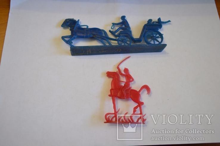Тачанка синяя и кавалерист красный., фото №2