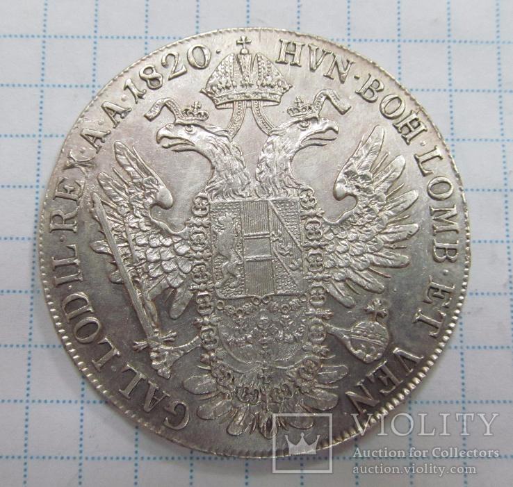 Монета Австрия 1 талер Серебро 1820 год А.