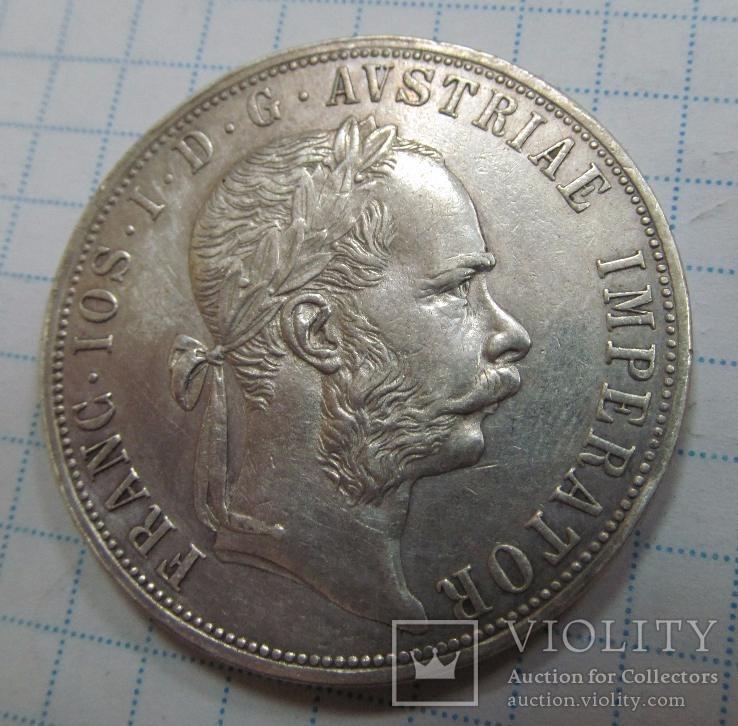 Монета Австрия 2 флорина Серебро 1889 год