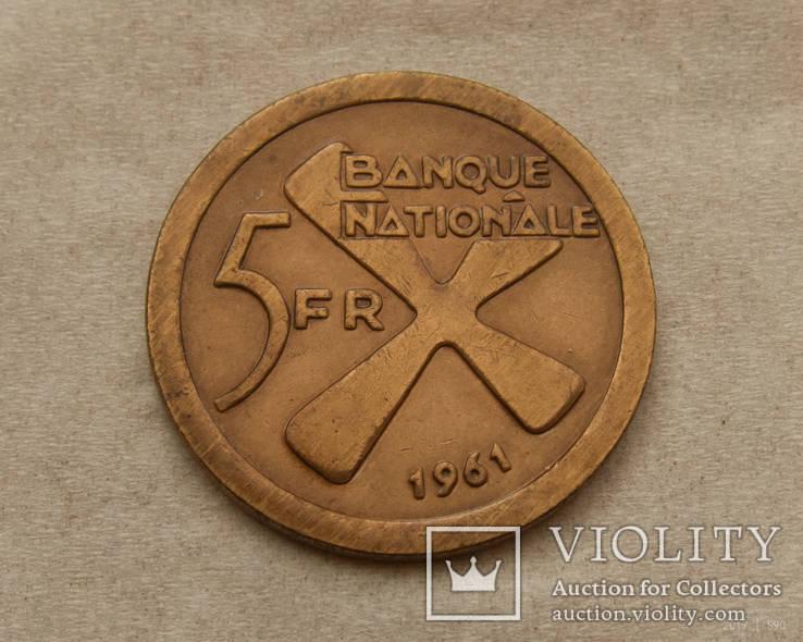 Катанга 5 франков 1961