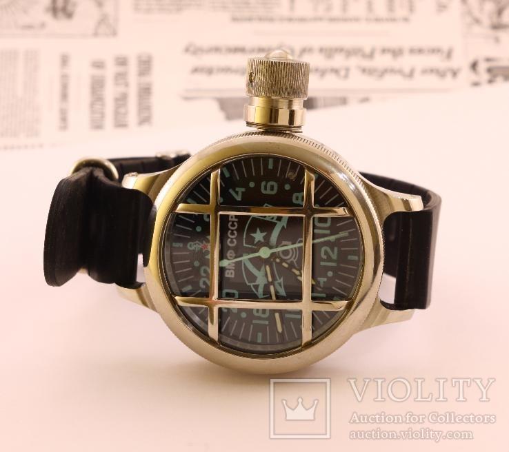 Часы наручные водолазные ВМФ СССР 24 часовые, рабочие