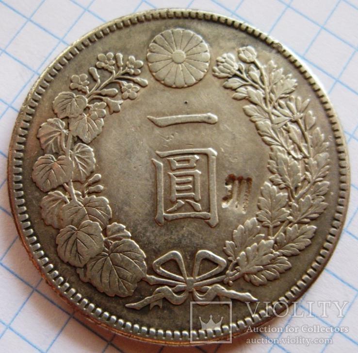 Япония, 1 йена 1912 г., Mitsuhito Meiji, надчекан