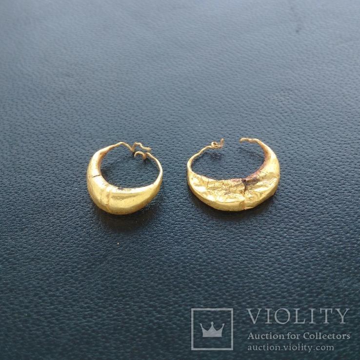 Римские золотые серьги