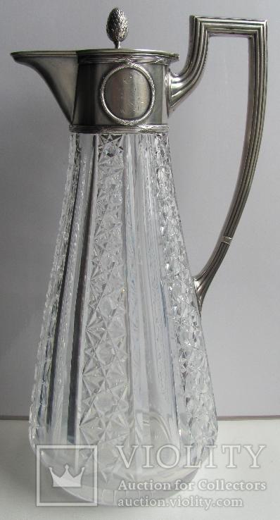 Кувшин ( серебро 84*, хрусталь ) .