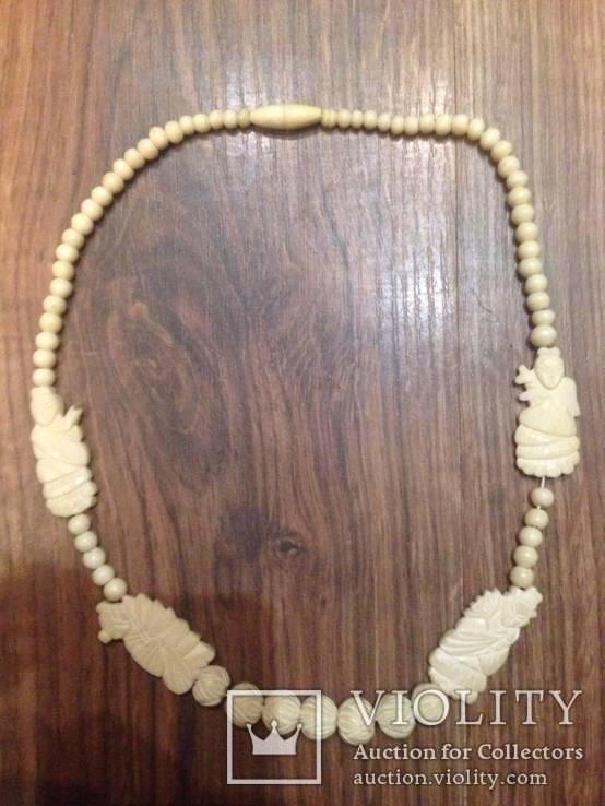 Китайские бусы из слоновой кости. 50х годов, фото №10