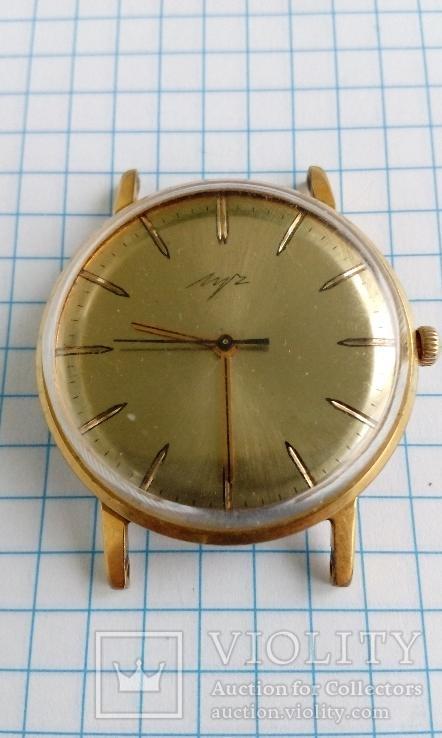 Часы Луч( Ау 10)в позолоте,рабочие