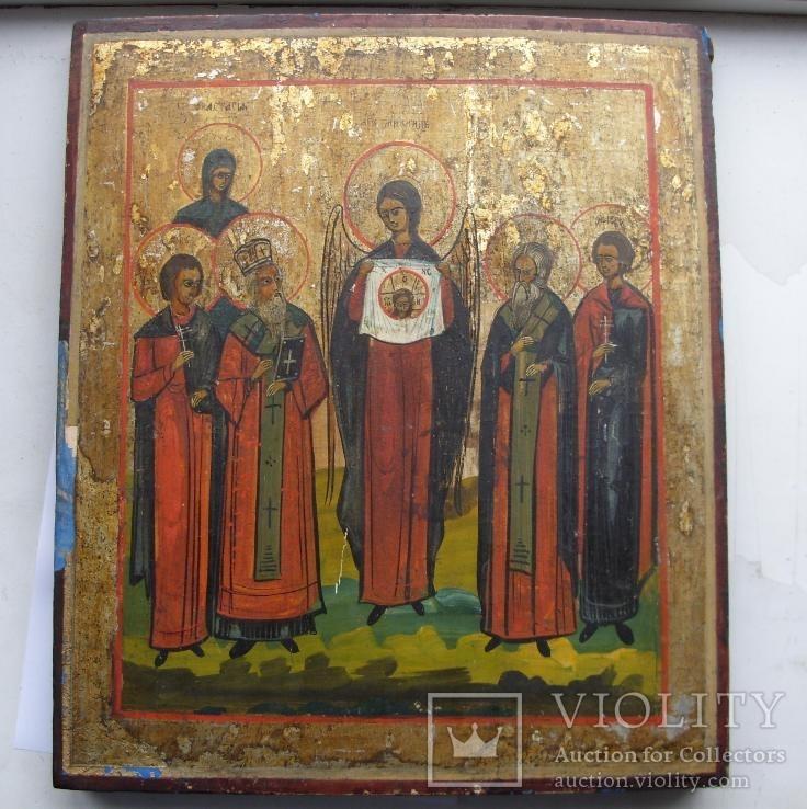 Архангел Михаил с святыми и спасом нерукотворным
