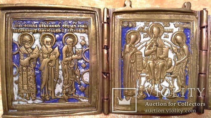Складень Деисус. Избранные святые 19 века, фото №6