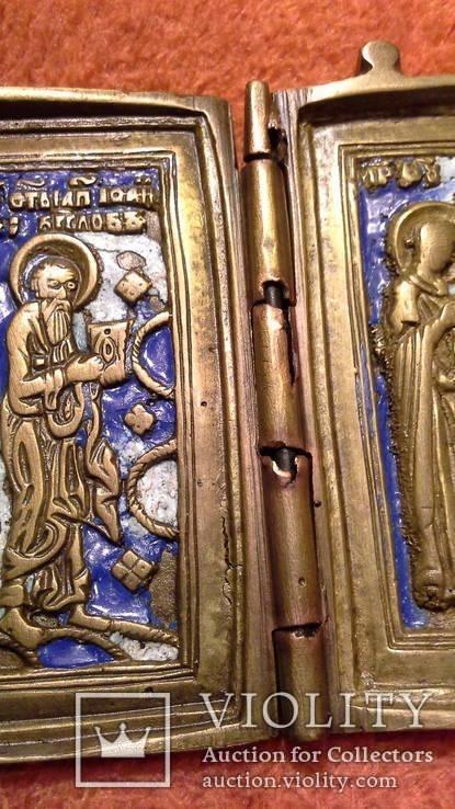 Складень Деисус. Избранные святые 19 века, фото №12