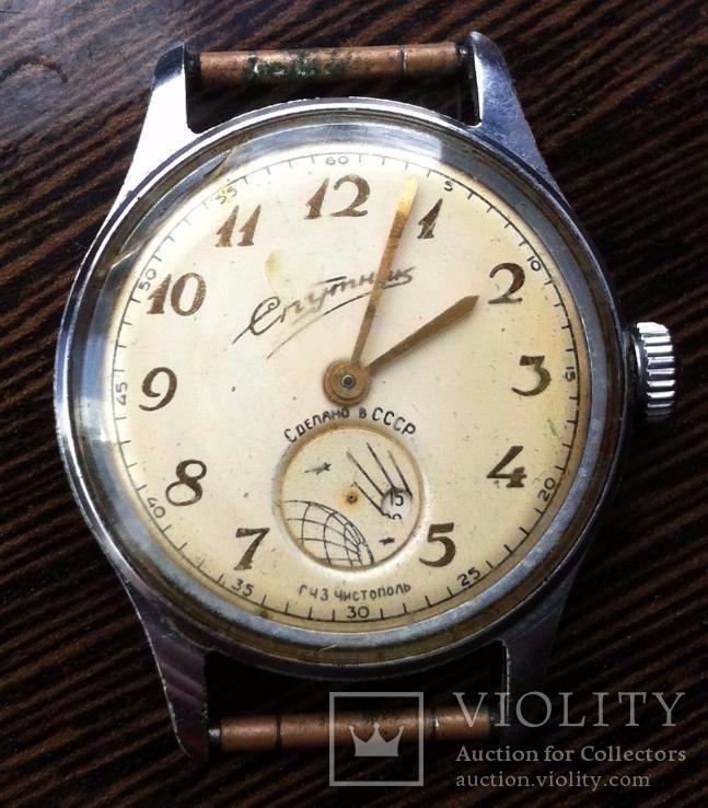 Часы Спутник ЧЧЗ, 1-59, без резервной цены