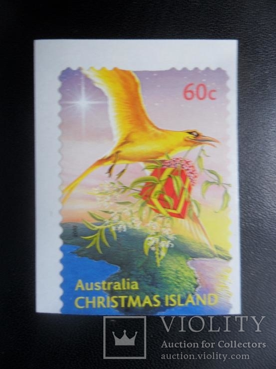 фауна. птицы. австралия . о-ов рождества .  марка-наклейка  MNH