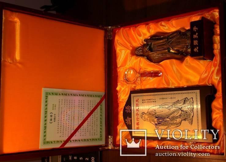 Конфуций и его учение: подарочный набор (статуэтка, скрижали и пр.), фото №4