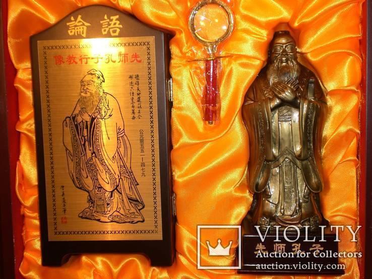 Конфуций и его учение: подарочный набор (статуэтка, скрижали и пр.), фото №5