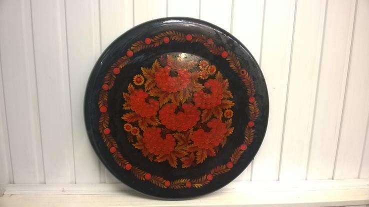 Расписная тарелка диам.35см, фото №2
