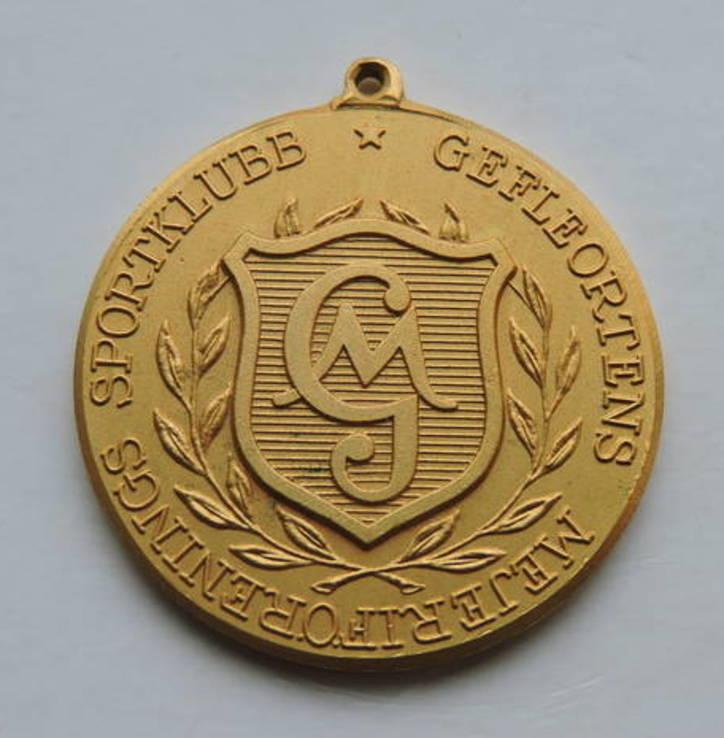 Медаль Позолоченная Швеция, фото №2