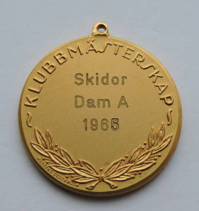 Медаль Позолоченная Швеция, фото №3