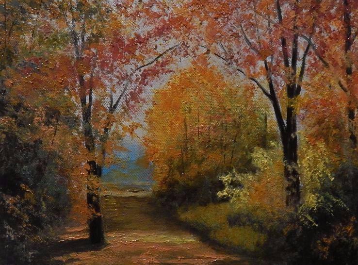 """Картина маслом """"Осень"""" 30x40см"""