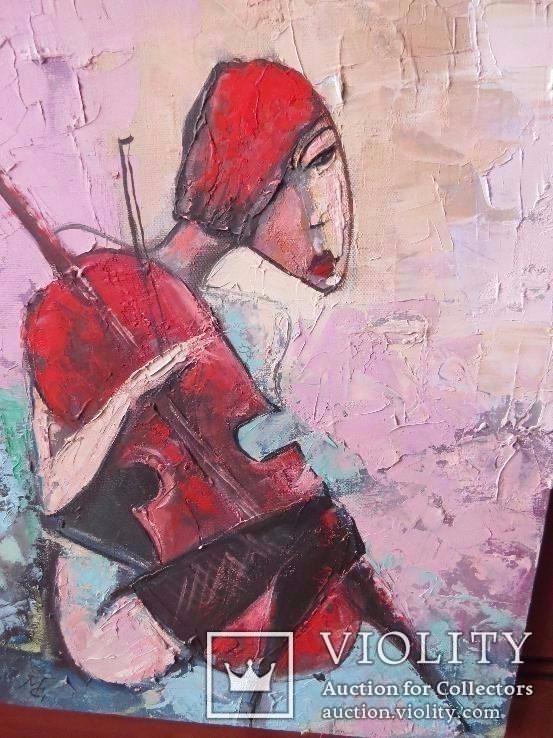 Девушка с виоланчелью 30*40 см