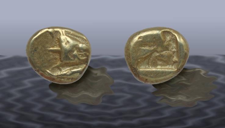 Электровая гекта г. Кизик, ок. 600-550 гг. до н.э.