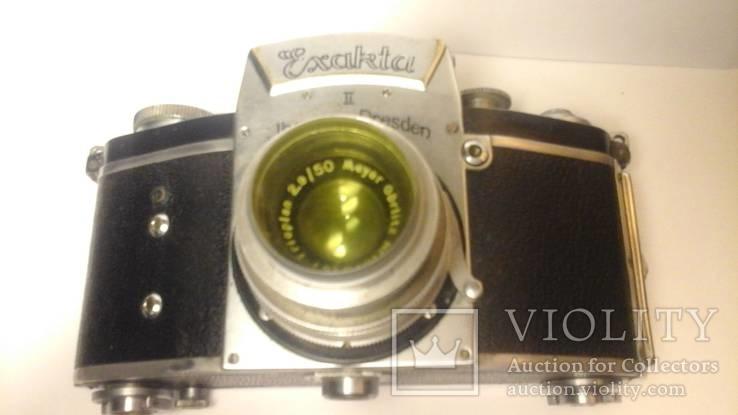 Фотоаппарат Exakta 2 объектив Trioplan Meyer Gorlitz 2.9/50