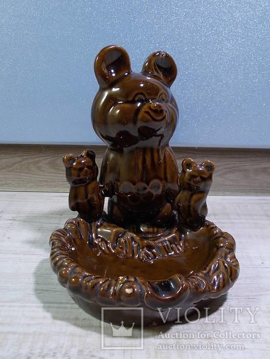 Пепельница Три олимпийских мишки, СКК