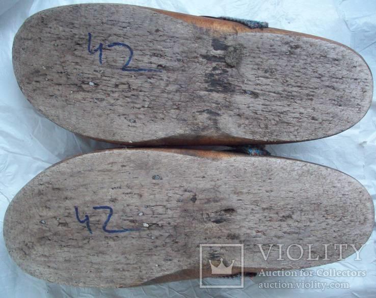 Оригинальные старинные голландские деревянные сабо, фото №9
