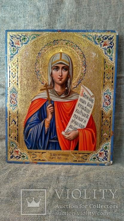 """Икона """"Святая Великомученица Параскева, нареченная Пятница"""" (27 Х 22)."""