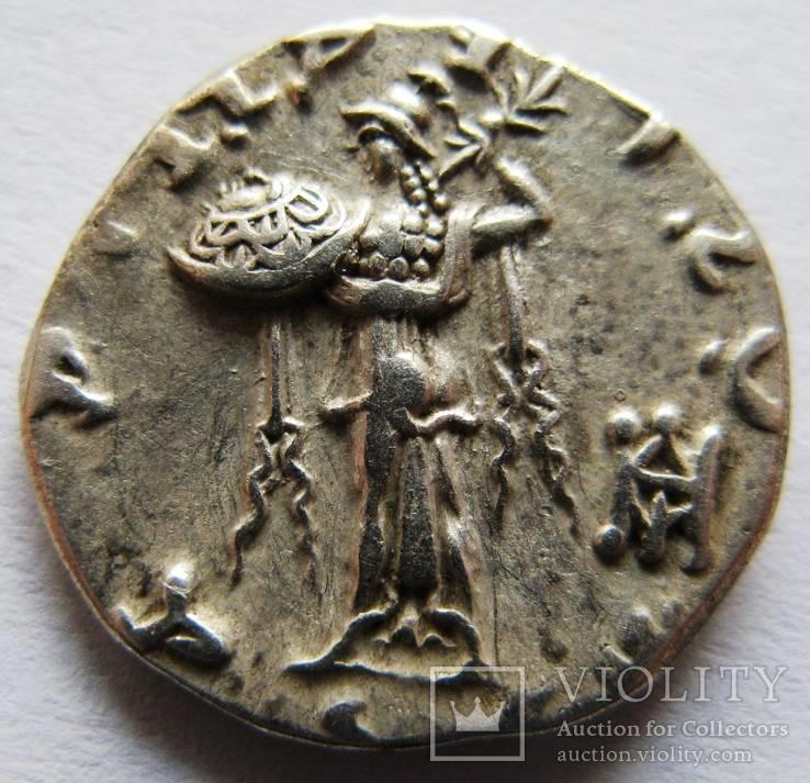 Бактрия (Индо-Греция), драхма,  МЕNANDER I SOTER 160-145 гг. до н.э.